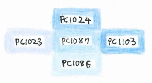 PC1087と似ている色