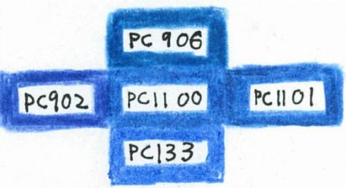 PC1100と似ている色